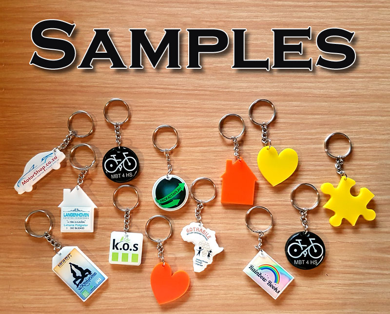 Perspex Keyring (Tall Rect.)