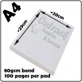 Notepads A4 BW [20x29cm] 100 pages