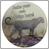 Printed Round Glass coaster