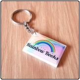 Printed Perspex Keyring (Rectangle)