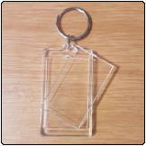 Blank Acrylic Keyring (30mm X 50mm)