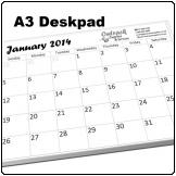 A3 Deskpad, 12 pages with backing board, BW