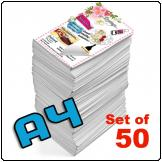 Flyers A4, Single sided, 130gsm, full colour (Set of 50)