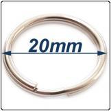 Split ring 20mm Stainless steel