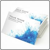 Business cards X500, Colour, 450gsm, UV Gloss front