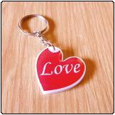 Printed Perspex Keyring (Heart)