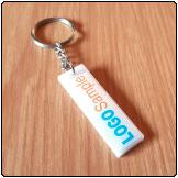 Printed Perspex Keyring (Tall Rect.)
