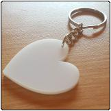 Perspex Keyring (Heart)