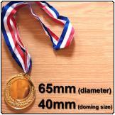 Medal 65mm Gold