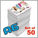 Flyers A6, Single sided, 130gsm, full colour (Set of 50)