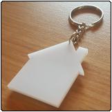 Perspex Keyring (House)