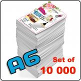 Flyers A6, 115gsm, full colour (Set of 10 000)