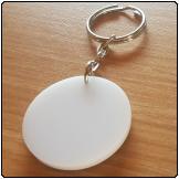 Perspex Keyring (Circle)