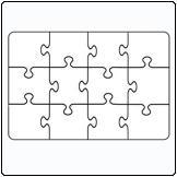 12 Piece Jigsaw puzzle (A5)