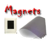 Blank or printed magnetic Sheets