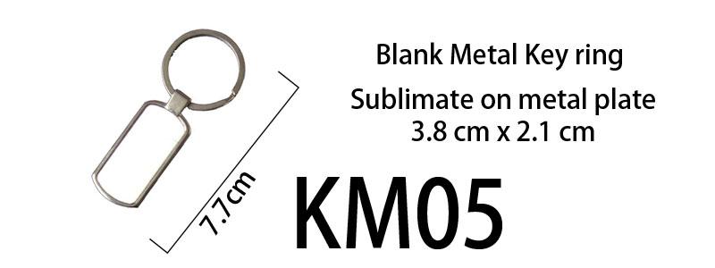 Blank Metal Keyring 05