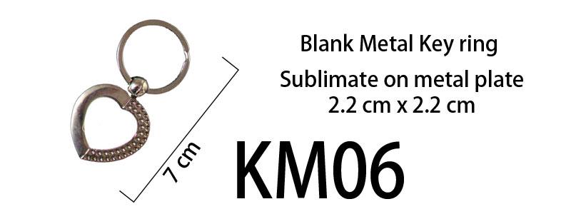 Blank Metal Keyring 06