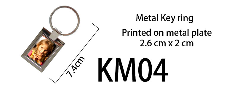 Printed Metal Keyring 04