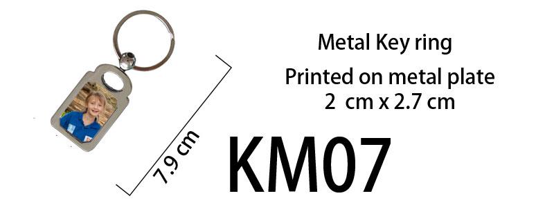 Printed Metal Keyring 07