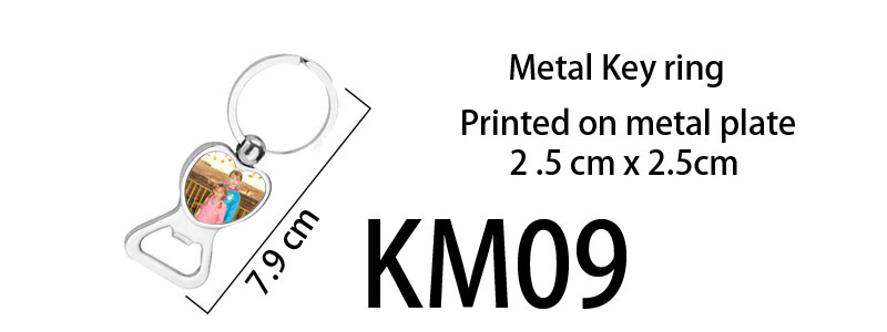 Printed Metal Keyring bottle opener 09