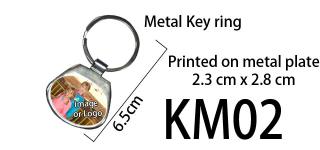 Printed Metal Keyring 02