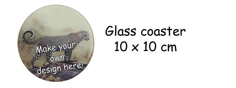 Printed Round Glass coaster