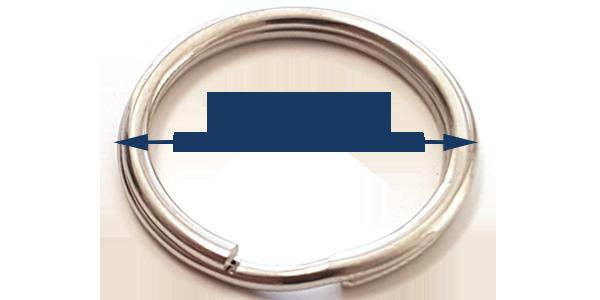 Split ring 25mm Stainless steel