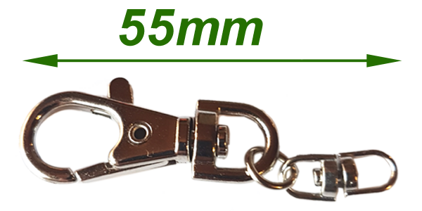 Snap hook and swivel 55mm