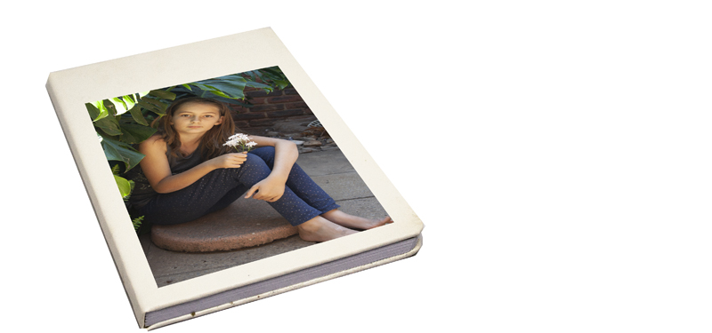 Notebook with hard cover