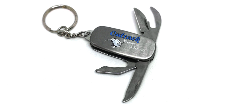 Printed pocket knife keyring