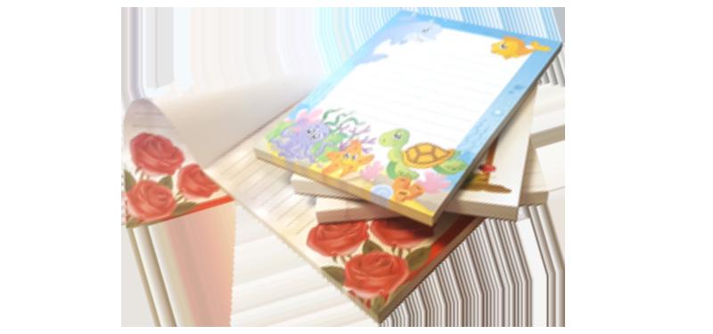 Notepads A5 Colour 100p