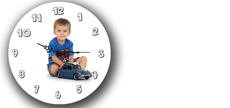 Printed  Clock (wood 30cm)